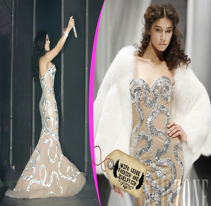 a316d0e995429 Haifa Wehbe Wearing Snake Embellished dress by Zuhair Murad