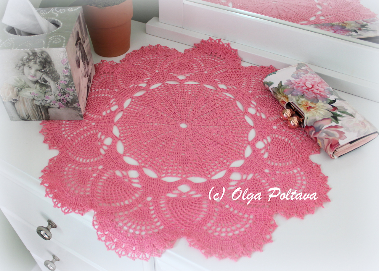 Lacy Crochet: Pineapples and Fans Doily, Table Topper, My New ...