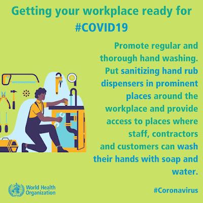 Getting your workplace ready WHO poster