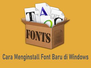 cara-memasang-font-di-windows