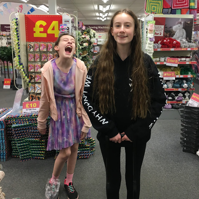 stephs two girls in hobbycraft