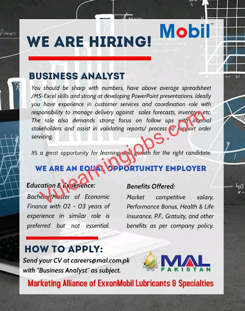 MAL Pakistan Limited Jobs 2020 In Pakistan For Business Analyst Latest