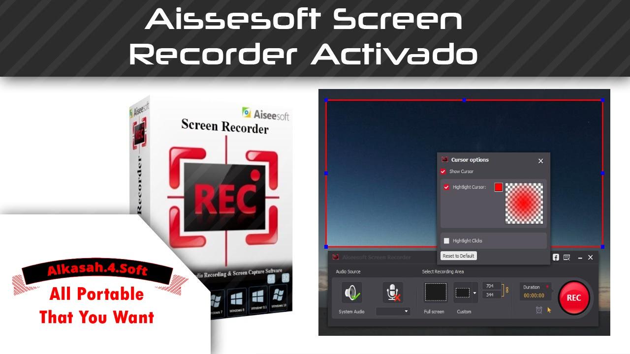 تحميل برنامج تصوير الشاشة Aiseesoft Screen Recorder Full كامل بالتفعيل