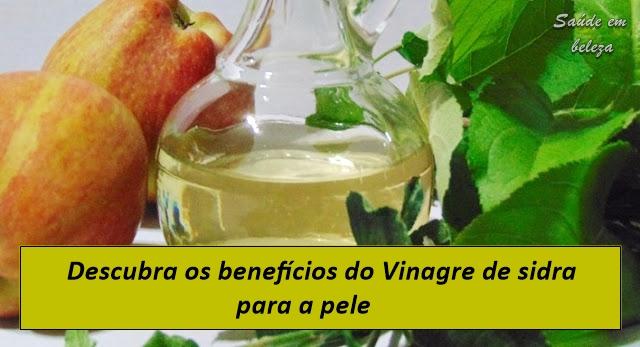 Benefícios do vinagre de sidra na pele