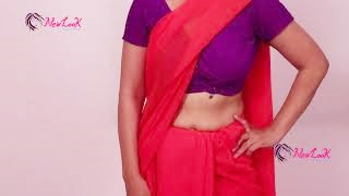 Super Easy Saree Draping Video Tutorial | New Look
