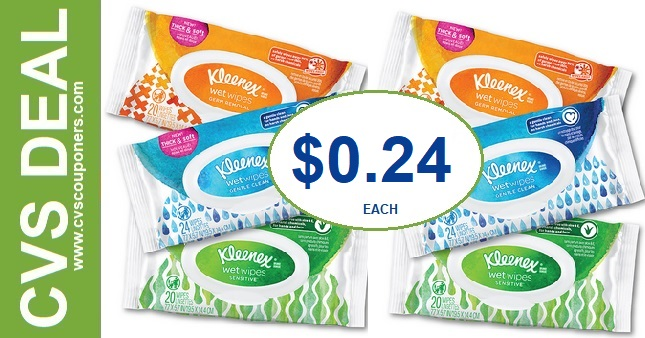 CVS Kleenex Wet Wipes Deal $0.24  - 8/11-8/17