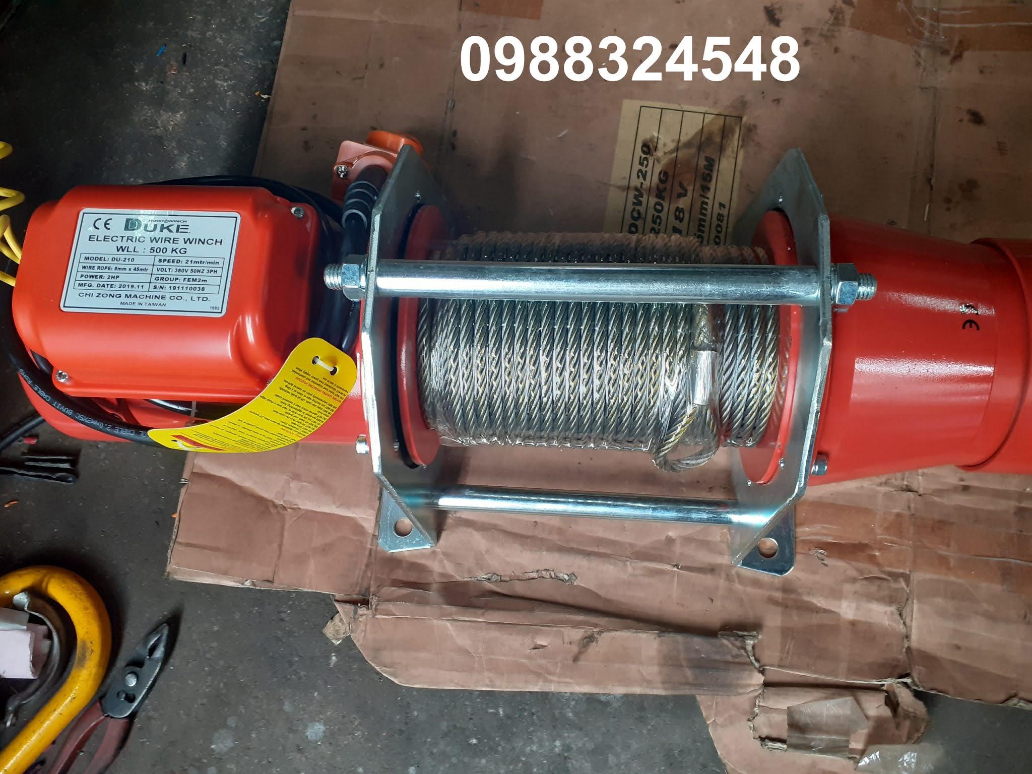 Tời cáp điện Duke DU-210 500kg