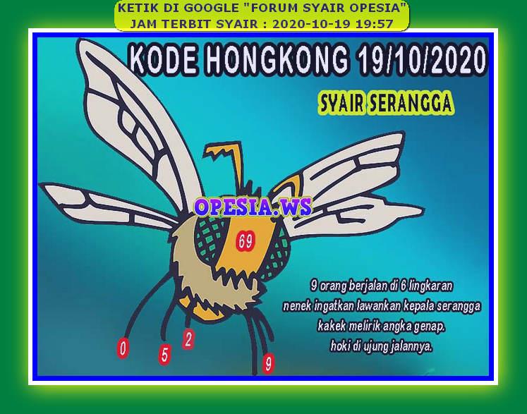Kode syair Hongkong senin 19 oktober 2020 54