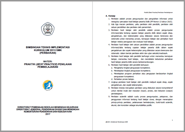 Praktik Baik (Best Practice) Penilaian Hasil Pembelajaran SMK Kurikulum 2013