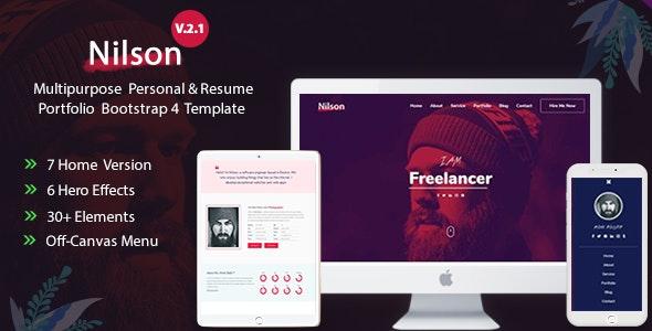 Multipurpose Personal Resume & Portfolio Template