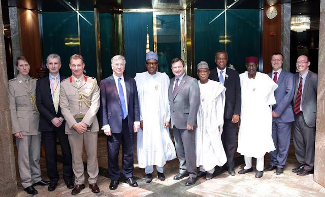 Buhari received British Secretary of State for Defence