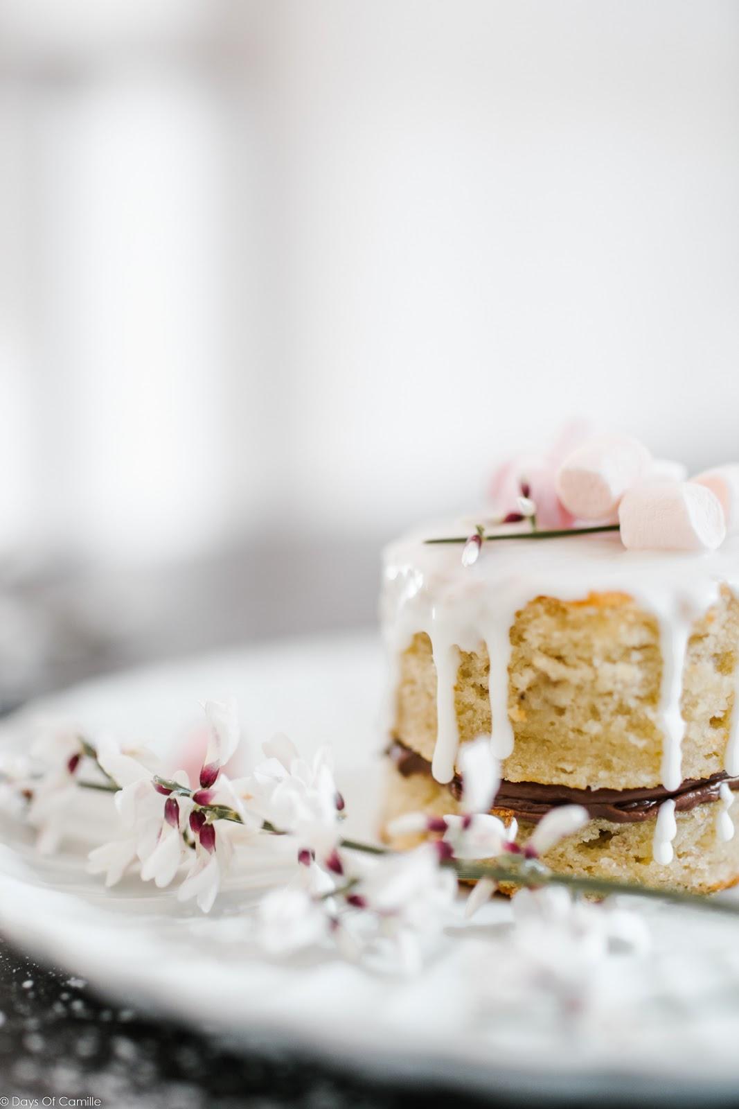 Minis sandwichs cakes à la banane et chamallows