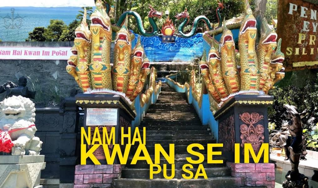 Wisata Religi Sambil Menikmati Deburan Ombak di Vihara Nam Hai Sukabumi