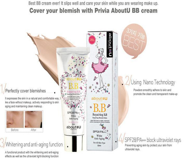 Privia-U; Repairing-BB-Cream; All-in-One-CC-Cream; bb-cream; cc-cream; makeup-korea; kosmetik-korea; beauty-blogger; alas-bedak; blogger-review
