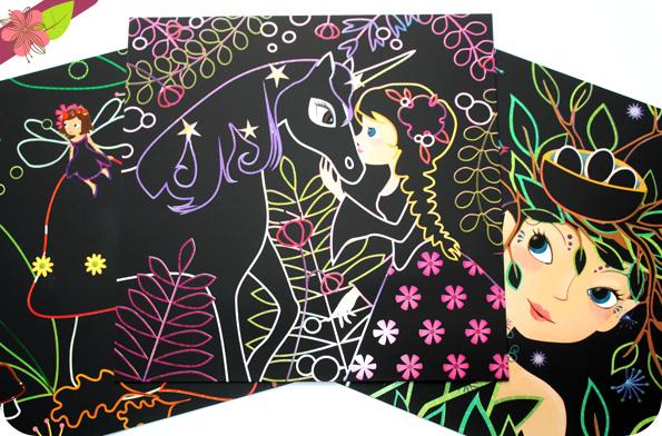 Mes créations : Cartes à gratter - Les fées de Sophie Rohrbach - éditions Gründ jeunesse