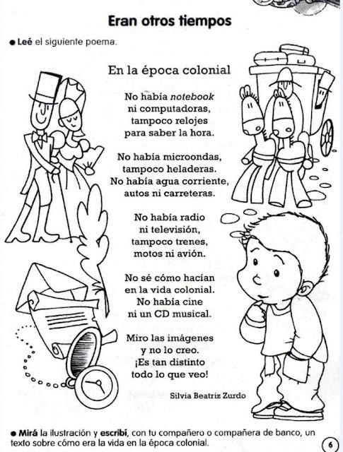 Poema Argentina sobre el tiempo de la revolución
