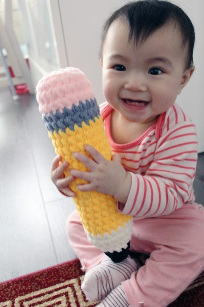 Crochet Plush Giant Teacher's Pencil DIY Gift