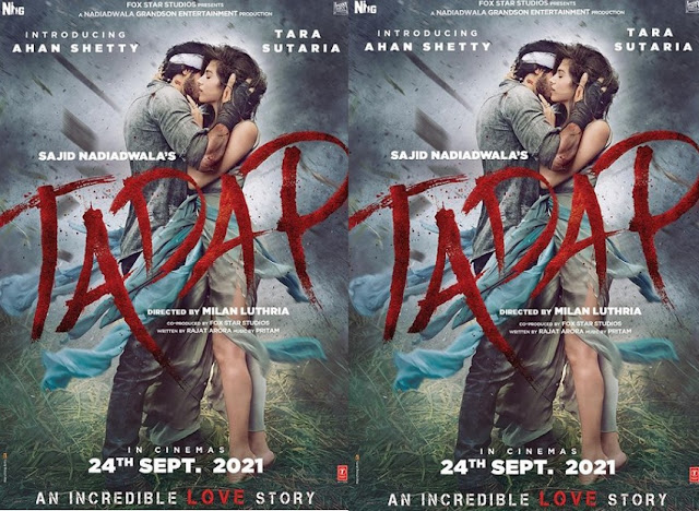 Sunil Shetty के बेटे अहान शेट्टी की डेब्यु फिल्म Tadap का पोस्टर जारी, अक्षय कुमार ने लिखी यह बात