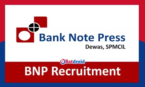 Bank Note Press Recruitment 2021, Apply Online for BNP Jobs in MP
