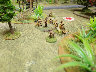 Japanese infantry move from their ambush positions