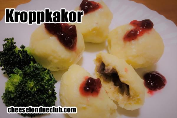 スウェーデン風いももち、クロップカーコル Kroppkakor