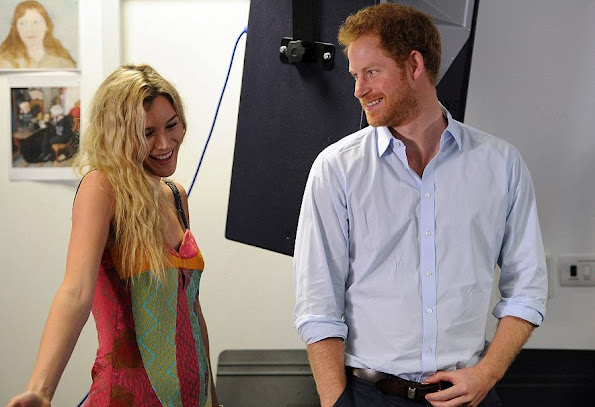 Prince Harry and Joss Stone met with members of Basotho Youth Choir at the Brit School