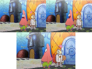 Polosan meme spongebob dan patrick 141 - patrick dan squidward mencari spongebob