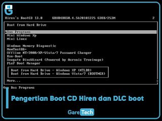 Pengertian Boot CD Hiren dan DLC boot