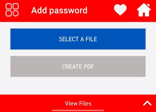 Select pdf file for add password, pdf me password kaise dale
