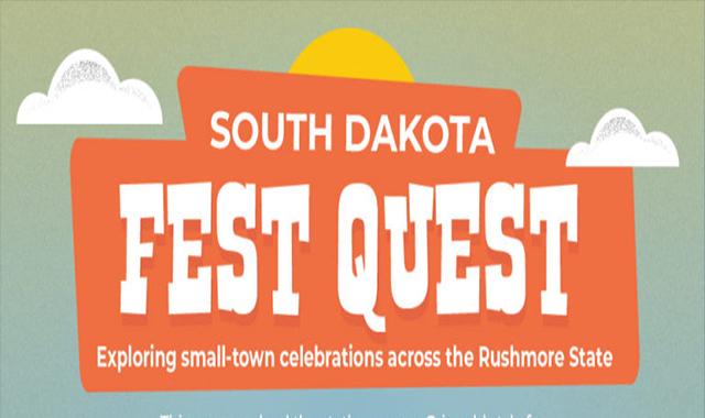Summer festivals in South Dakota #infographic
