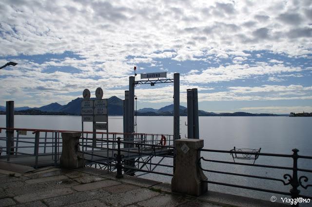 L'imbarcadero di Baveno per raggiungere Stresa e le Isole Borromee
