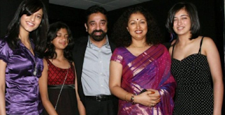 Kamal Haasan with his three Daughters and Gautami