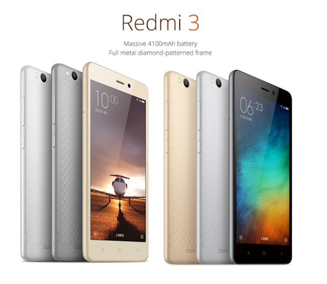 Xiaomi Released Redmi 3 With Snapdragon 616 & 4100mAh Battery : Full Specifications & Price Detail