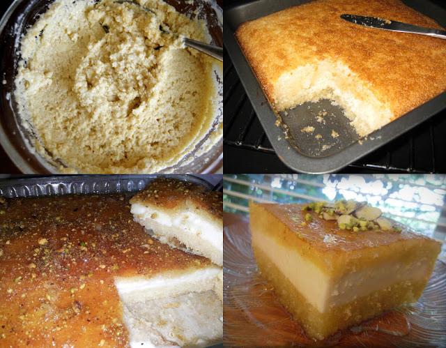 أحلى وأسهل طريقة لعمل البسبوسة بالجبنة بسهولة وفي المنزل!