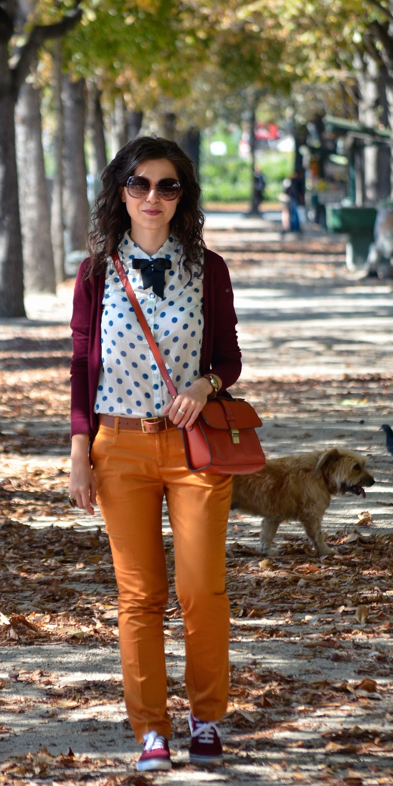 Miss Green Parisian Preppy Fall Outfit