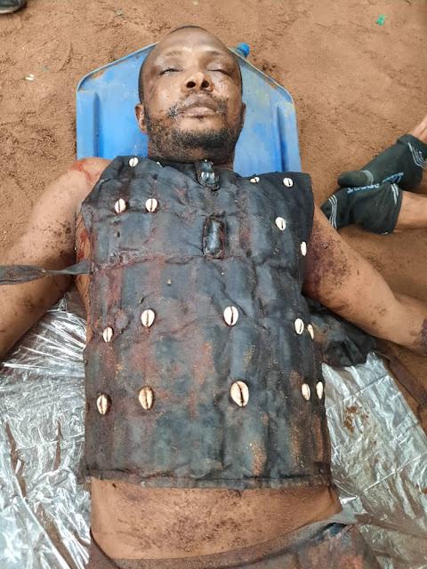 Dead body of Ikonso
