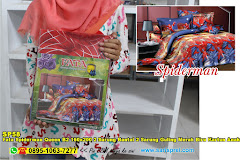 Fata Spiderman Queen B2 160×200 2 Sarung Bantal 2 Sarung Guling Merah Biru Kartun Anak Remaja Poly  TC