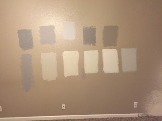 Test your paint samples on a wall