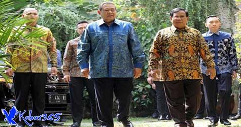 SBY Ditemani Ibas Saat Kunjungi Rumah Prabowo