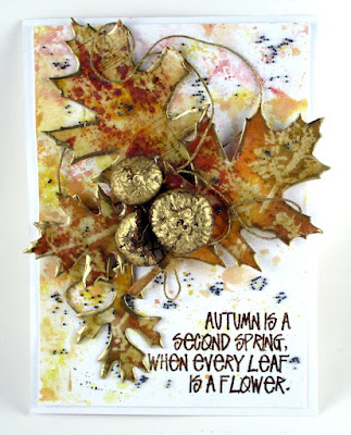 Seth Apter Vintage Beeswax Sizzix Tattered Leaves Stampers Anonymous Widlflowers Ranger Distress Oxide Inks For the Funkie Junkie Boutique