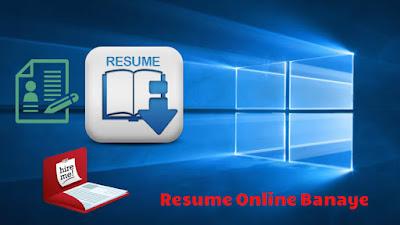 Online Resume Banaye