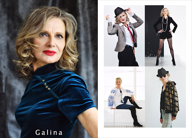Silver Fox Galina - Sydney Model Agency  Portfolio Photoshoot And Comp Card - Photography by Kent Johnson