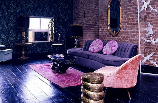 Ideas Underline Make Lavender Color Living Room Modern Wall