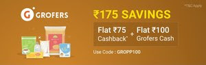 PhonePe Switch Grofers Offer- Get Rs.175 Cashback On Order From Grofers
