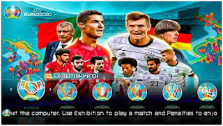 Download PES 2021 PPSSPP Season Update Euro 2020 Edition Graphics HD New Kits 2022 & Latest Transfer
