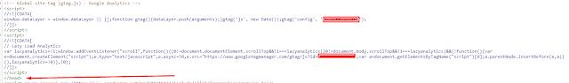 code google analytics