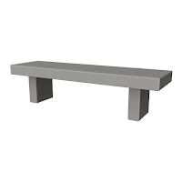 Concrete bench game asset number 1