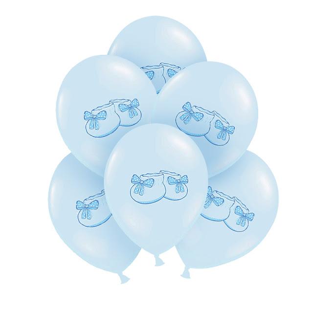 Balony na Chrzest chłopca w błękitnej kolorystyce