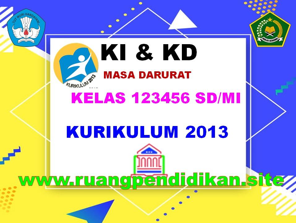 KI & KD Kelas 1, 2, 3, 4, 5, 6 SD/MI Kurikulum 2013