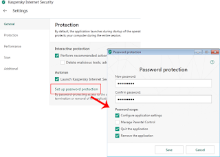 Setting Password Kaspersky Internet Security